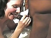 Cuckold white housewife entirely pleased by horny ebony fuckers group