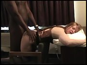 Black bull destroying his white chick slave's pussy