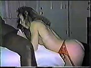 Interracial antique lovemaking tape with a stunning hotwife wifey