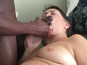 Semen ultra-kinky grandmother loves being fed steamy tasty jizm from a black cock