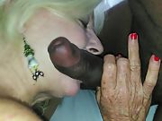 Insatiable white granny is the ultimate super freak for large black cock
