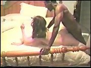 Cuck spouse filming sexy wife breeding with two black guys and anal