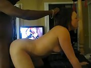 Hot wife enjoying doggy style hotwife session with a black stranger