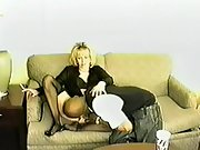Married blond milky wife wearing off the hook lingerie for blacking