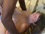 Mature wife cumming hard during interracial sex with bull