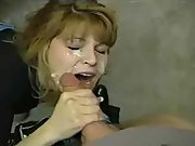 Towheaded milf big cock inhale and creamy cum facial