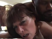 Trampy mature black-haired gets her fuckbox slammed