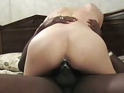 Milky milf pussy creaming all over black cock sending her to heaven