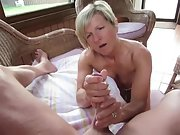 Brief hair mummy makes her mans man meat rock rigid