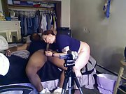 First-timer mixed-race duo having hump on the webcam