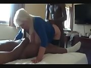 Buxom mature skank got ruined by ebony bulls in a cuckold 3 way