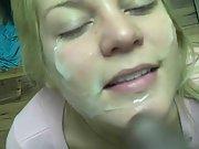 Gloria just enjoys ebony guys letting us examine her holes and cum on face